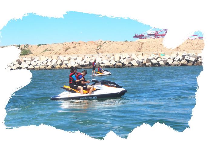 Una aventura en moto de agua impresionante
