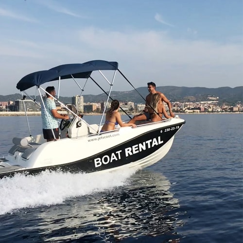 Boat without license rental Barcelona