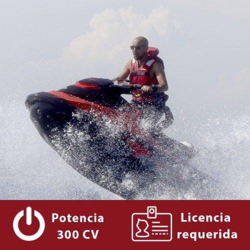 Alquilar moto de agua Sea-Doo RXT-X 300 en Barcelona