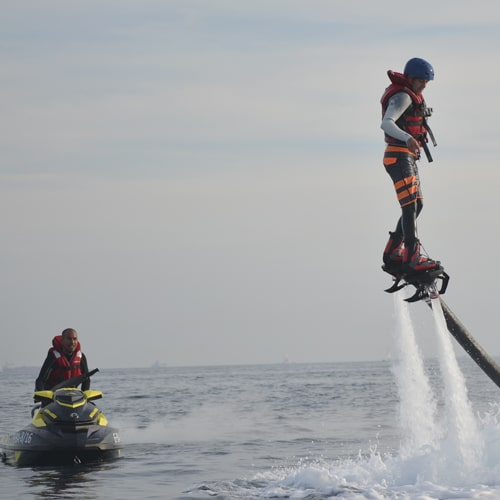 Flying with the Flyboard