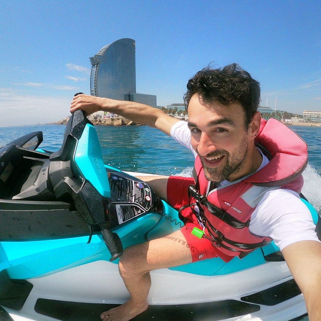 Fast Jet Ski in Barcelona