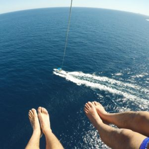 Parasailing Views in Barcelona