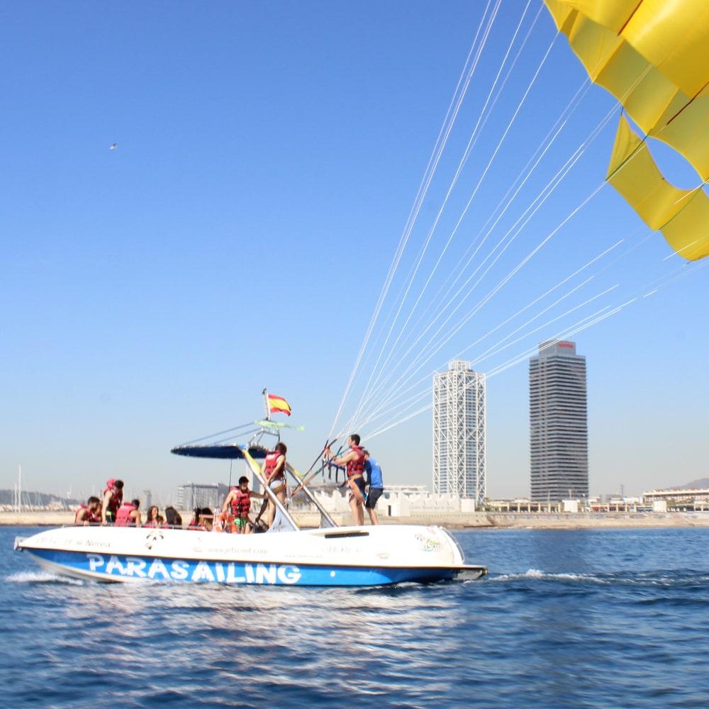 Parachute Ascensionnel bateau à Barcelone