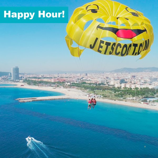 Parasailing Barcelona mornings