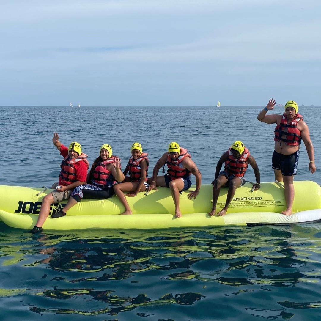 Banana boat hinchable acuático Barcelona