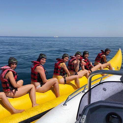Banana boat hasta para 8 personas