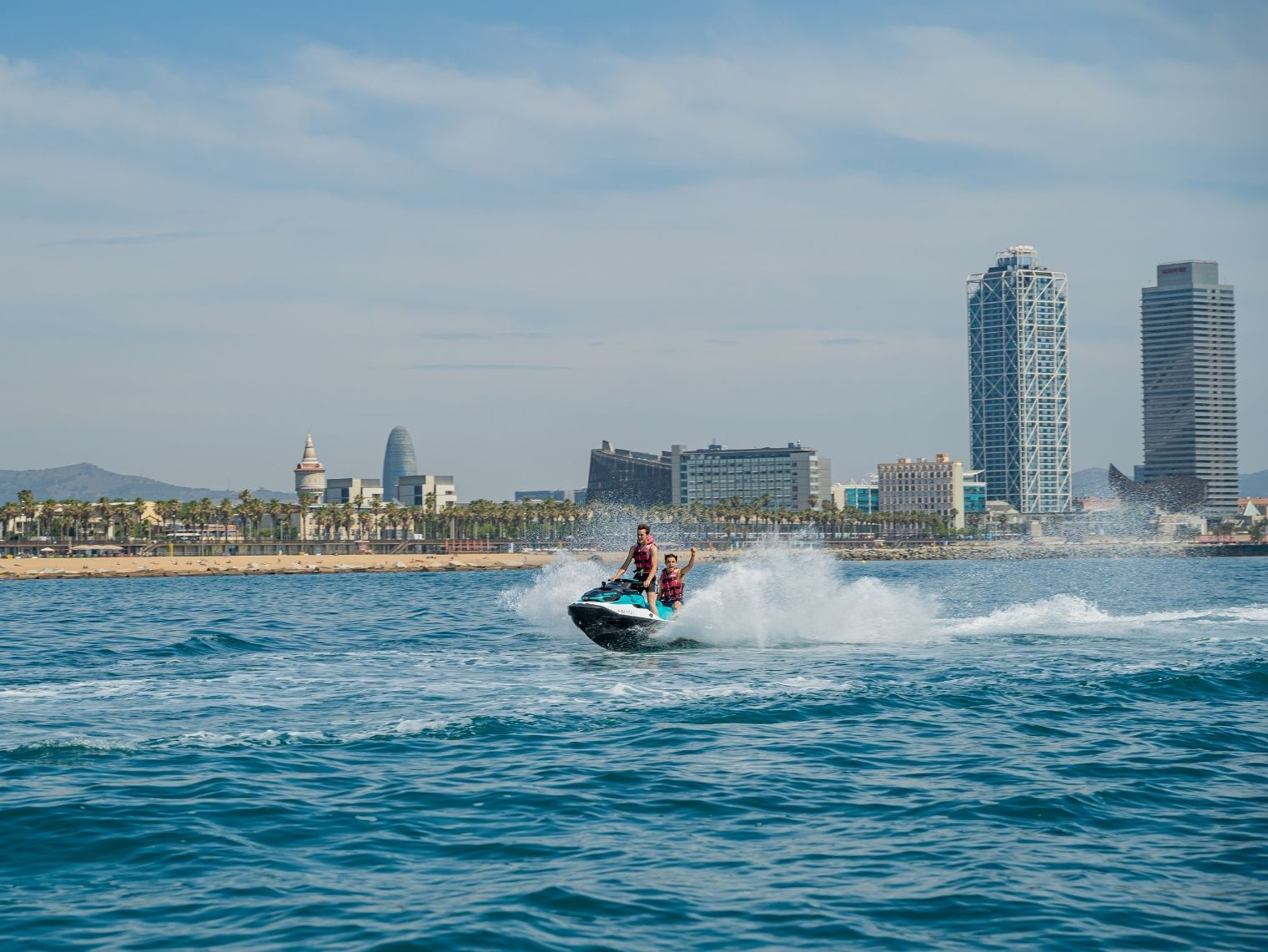 Jet Ski Skyline Tour in Barcelona