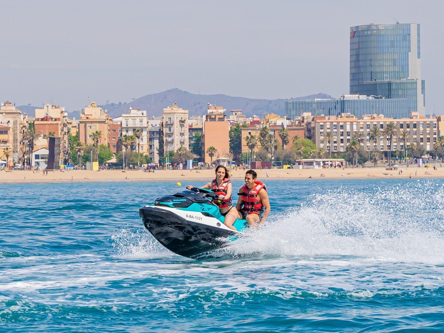 Enjoy Barcelona with a jet ski tour