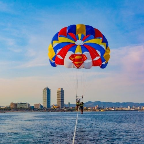 Parasailing Barcelona special offer for two people